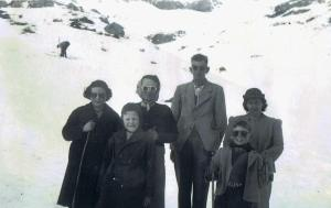 Family group at Arthur's Pass (1949)