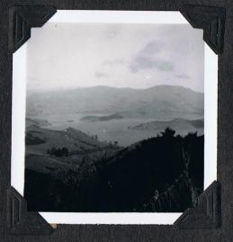 Looking across to Akaroa, 1957