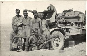 NZ Artillery, Egypt, 1942  Ray Simpson back left