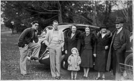 Ray Simpson and Lewis Rudkin with family on a picnic