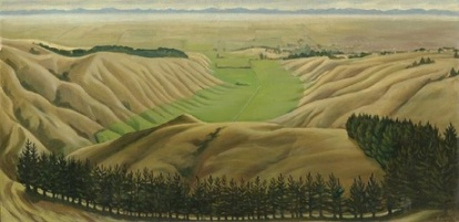 Canterbury Plains from Cashmere Hills, Doris Lusk, 1952
