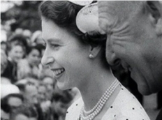 Queen visits ChCh 1954