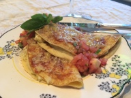 Royal Family's Favourite - Egg & Tomato Pancakes