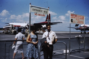 My mother Carol and her brother Warwick at Essendon airport Melbourne, 1960